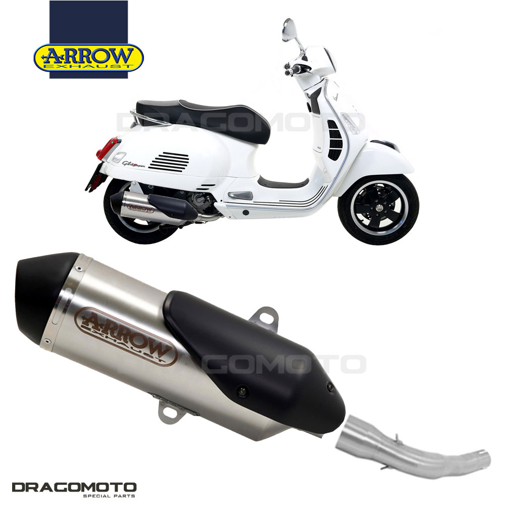 2008-2016 SILENCER URBAN ARROW ALUMINUM DARK PIAGGIO VESPA GTS 125I.E